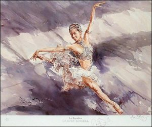 Darcey Bussell La Bayadere water colour print